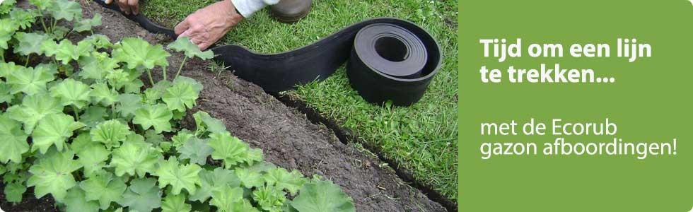 gazonafboording rubber