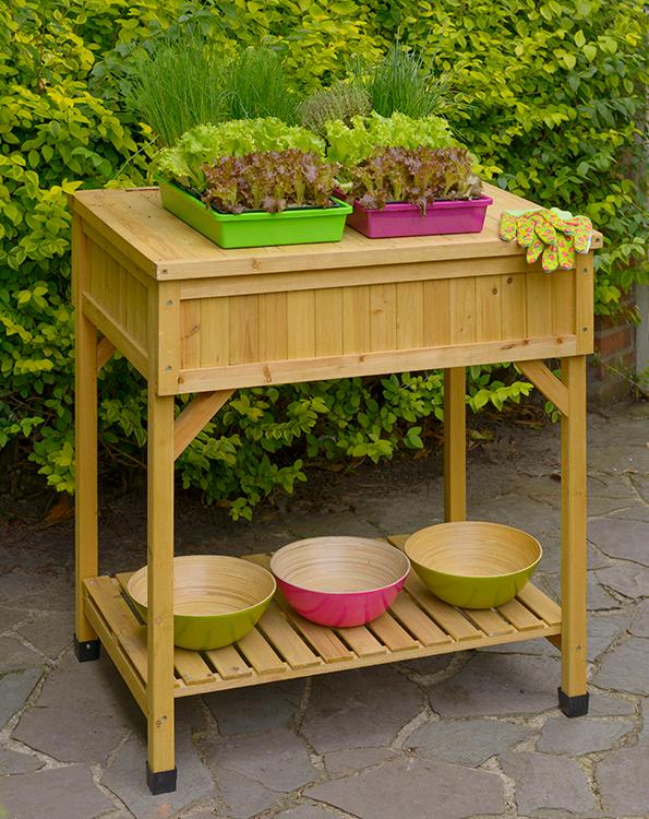 Houten Werktafel voor de Tuin