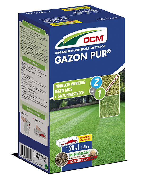 Dcm gazon pur gazonmeststof met anti moswerking for Gazon 25 kg