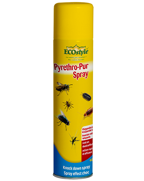 ecostyle pyrethro pur spray insecten bestrijden in huis 400ml. Black Bedroom Furniture Sets. Home Design Ideas