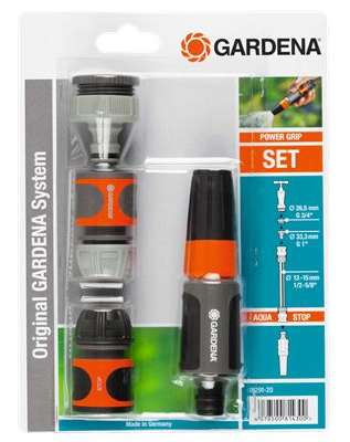 Gardena starterset tuinslang aansluiten op kraan for Tuinslang aansluiten op kraan zonder schroefdraad