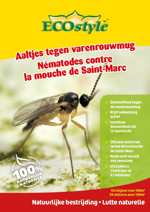 Ecostyle Aaltjes tegen varenrouwmug larven - biologische bestrijding 5m²