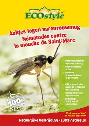 Ecostyle Aaltjes tegen varenrouwmug larven - biologische bestrijding 50m²