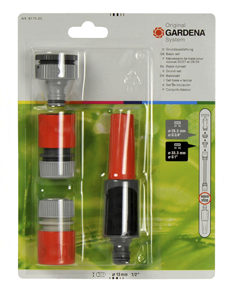 Gardena Tuinslang aansluiten op kraan basisset 13-15mm