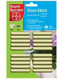 Bayer Duo-Stick Insecticide + meststof staafjes 20st