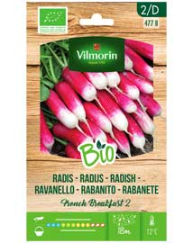Bio groenten zaden Radijs French Breakfast 6g