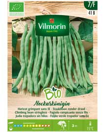 Biologische groenten zaden Princessebonen Neckarkonigin 180st