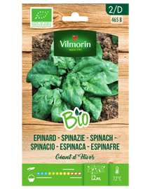BIO groenten zaden Spinazie Winterreuzen 10g