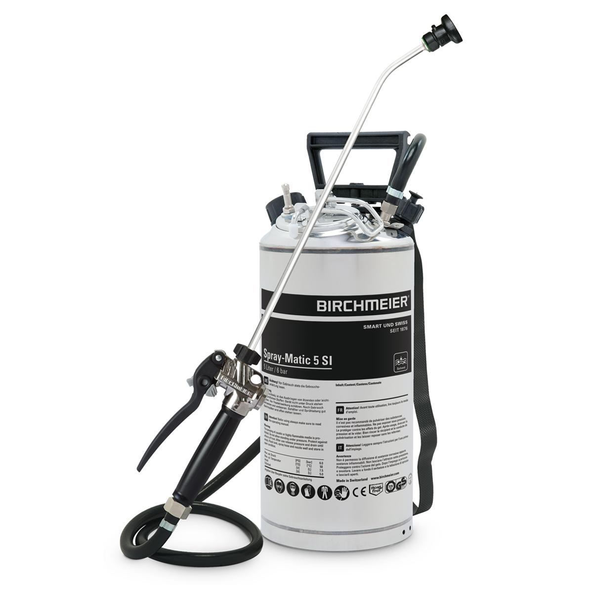 Birchmeier druksproeier met persluchtaansluiting Spray Matic 5 Sl