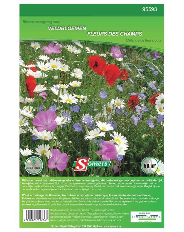Bloemenmengsel Wilde veldbloemen 50m²
