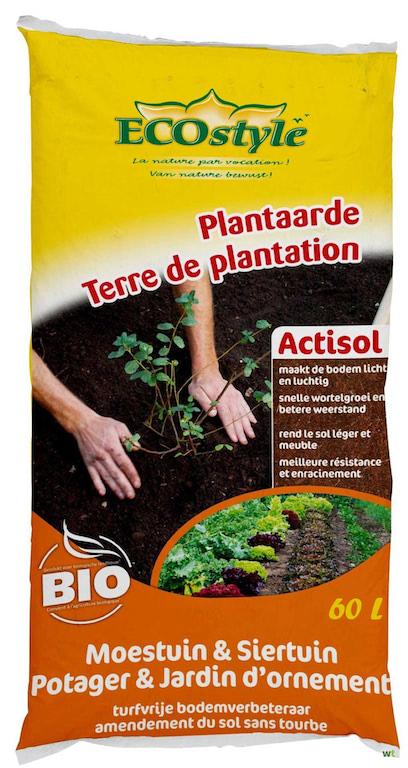 Bodemverbeteraar fruitbomen en haagplanten Actisol 60L