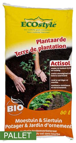 Pallet Bodemverbeteraar fruitbomen en haagplanten Actisol 60L