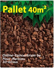 Franse schors Pinus maritima 30/60 per pallet 40m²
