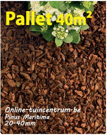 Boomschors Pinus maritima 20/40mm per pallet 40m²