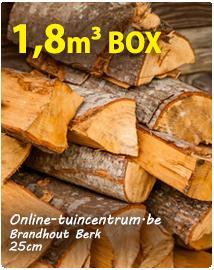 Brandhout Berk kopen 25cm ovendroog per 1,8m³