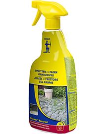 Edialux Cliness Spraysol spray tegen onkruid op oprit, paden en terras 1L