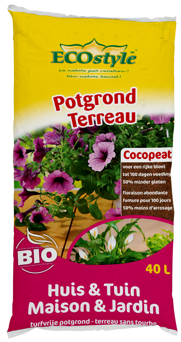 Ecostyle Cocopeat potgrond huis en tuin 40L