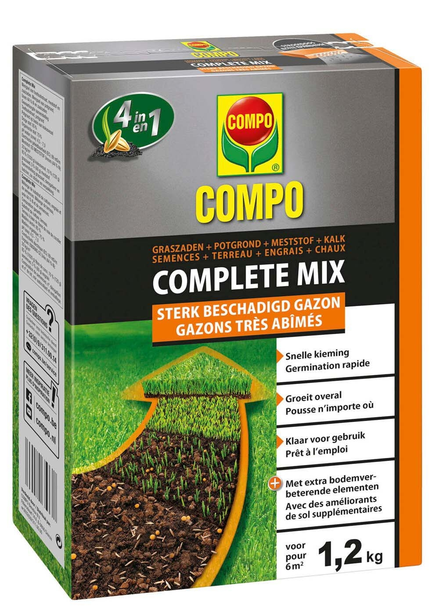 Beschadigd gazon herstellen met Complete mix