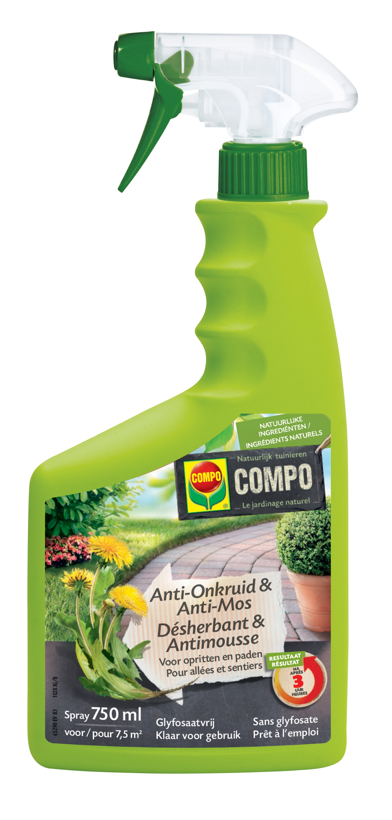 Compo Anti Onkruid en Anti Mos Spray voor opritten en paden 750ml