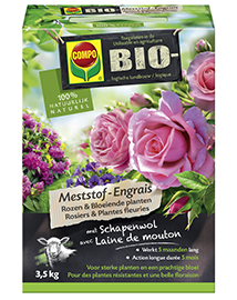 Compo Bio Meststof voor Rozen en Bloeiende planten 3,5Kg