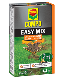 Compo Easy Mix Kale plekken in gazon herstellen 50m²