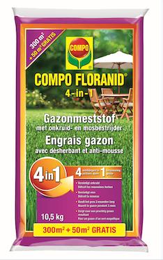 Compo Floranid gazonmeststof 4 in 1  300m²+50m² gratis