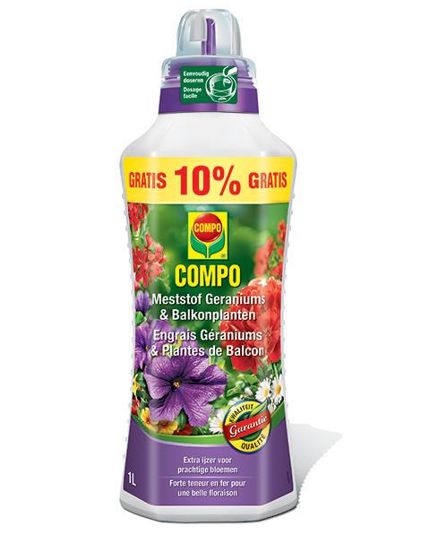 Compo Vloeibare Geranium & Balkonplanten meststof 900 + 100 ml