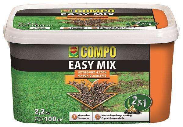 Compo Easy Mix Kale plekken in gazon herstellen 100m²