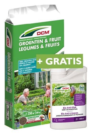 DCM Meststof Groenten en Fruit 20kg + GRATIS Bio Anti-Slak