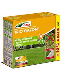 DCM Meststof Gazon Trio tegen mos en onkruid 3kg + 10%