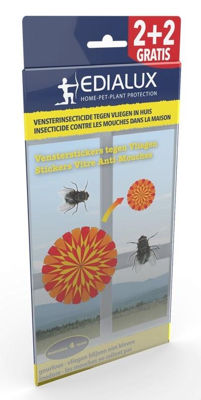 Geurloos vensterinsecticide tegen vliegen in huis 4 st