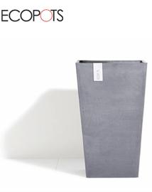 ECOPOTS Rotterdam Vierkante hoge bloempot Bluestone 32x50cm