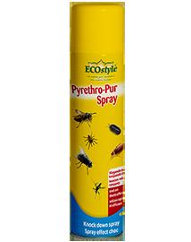 Ecostyle Pyrethro Pur spray tegen vliegende en kruipende insecten 400ml