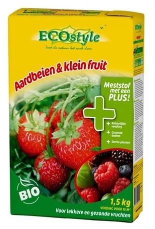 Ecostyle Mest voor Aardbeien & Klein fruit 1,5 kg