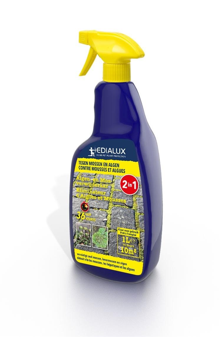 Edialux Algen- en mosverwijderaar Spray 1L