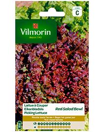 Vilmorin Eikenbladsla zaden Rode Salad Bowl 4g