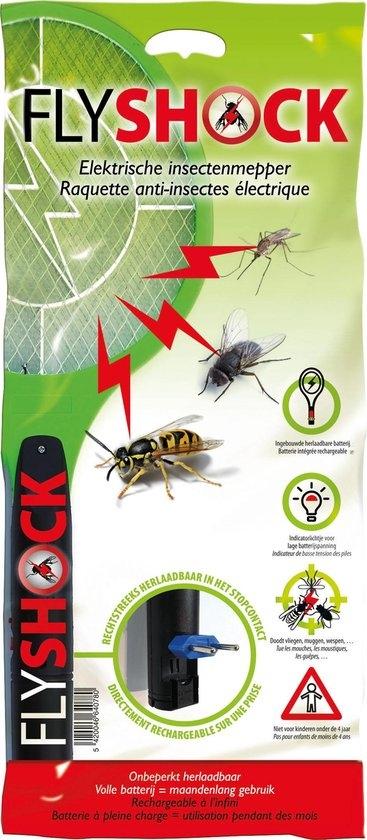 Elektrische vliegenmepper oplaadbaar Fly Shock