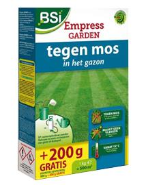 Empress Garden tegen mos in gazon en op terras 500m²