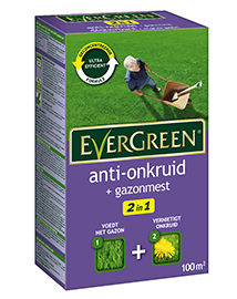 Evergreen 2 in 1 Anti Onkruid + gazonmest 100m²