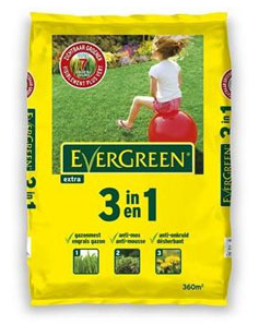 Evergreen Extra 3 In 1 gazomest tegen onkruid en mos 360m²
