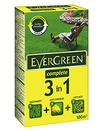 Evergreen complete 3 in 1 gazonmest tegen onkruid en mos 100m²