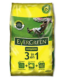 Evergreen complete 3 in 1 gazonmeststof tegen onkruid en mos 400m²