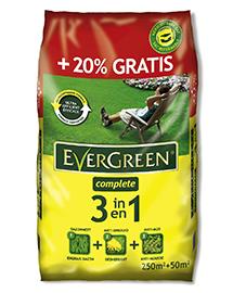 Evergreen complete 3 in 1 gazonmest tegen onkruid en mos 250 + 50m²