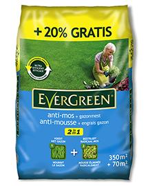 Evergreen 2 in 1 Anti-mos + Gazonmest 350 + 70m²