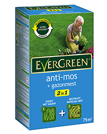 Evergreen 2 in 1 Anti-mos + Gazonmest 75m²