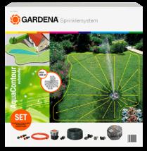 Gardena Complete Set met Verzonken Multi-Instelbare Sproeier AquaContour Automatic