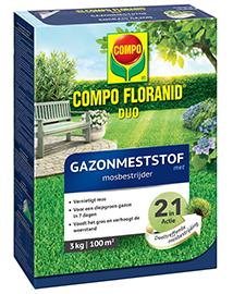 Compo Floranid Duo Gazonmeststof met mosbestrijder 100m²