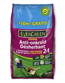Evergreen gazonmeststof met onkruidbestrijder 200+50m²