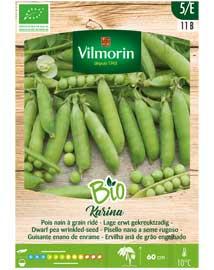 Bio groenten zaden Erwten Karina 350st