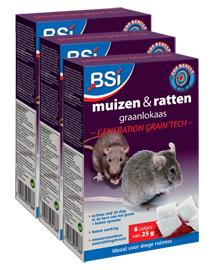 Muizen- en rattengif graankorrels 450g